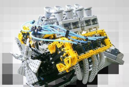 Пластиковый двигатель