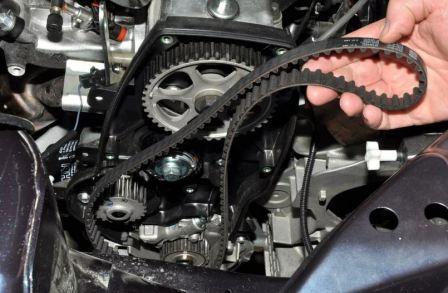 Установка ремня грм двигателя