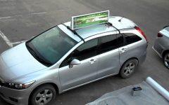 Преимущества установки рекламы на такси